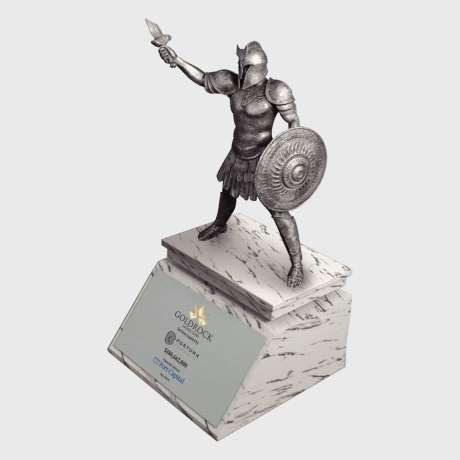 124065 Deal Toy statute gladiator mabrle tombstone