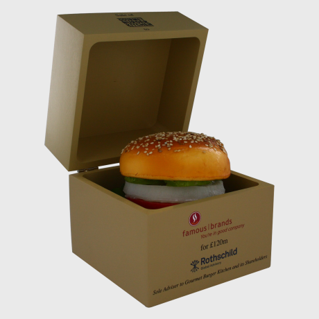 125934 Deal Toy food burger box custom gift banker